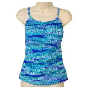 Island Escape high neck tankini top tummy control
